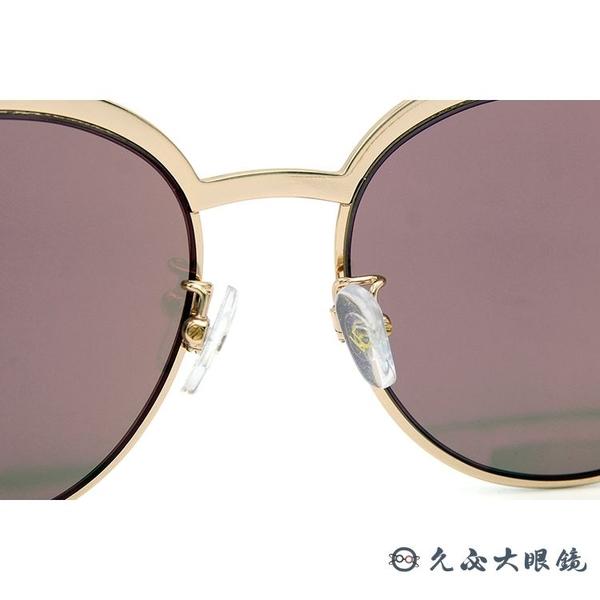 VEDI VERO 墨鏡 VE710 (玫瑰金) 鈦 貓眼 太陽眼鏡 久必大眼鏡