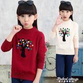 女童毛衣套頭加厚2017新款兒童針織打底衫寶寶中大童裝外套韓版冬