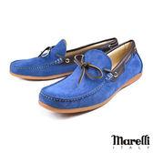 【Marelli】反絨帆船休閒鞋 淺藍(54958-IRIS)