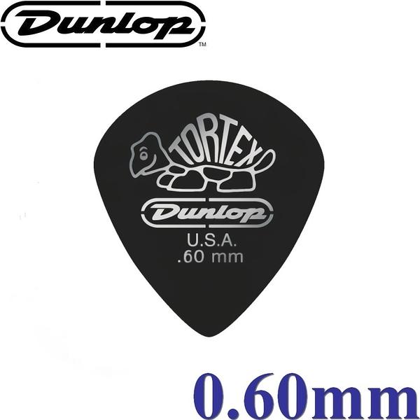 【非凡樂器】Dunlop Tortex® Pitch Black Jazz III 小型燙銀尖頭彈片 / 吉他彈片【0.60mm】