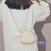 草編包  草編小包包女新品潮夏天小清新仙女手提包時尚洋氣珍珠斜挎包【快速出貨】