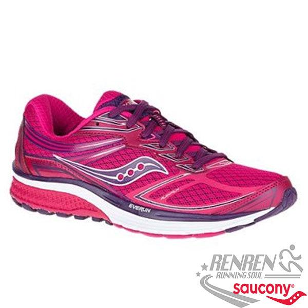 SAUCONY GUIDE 9 女慢跑鞋 (桃紅)