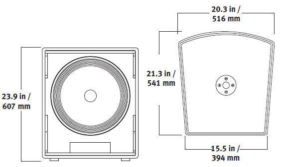【金聲樂器廣場】 全新 MACKIE S518S 18吋 1200瓦 被動式 喇叭
