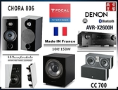 『盛昱音響』法國 FOCAL Chora 806 / CC700 / WWS-65 / WH-D10 / AVR-X2600H - 現貨