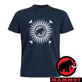【MAMMUT 長毛象】男 Trovat快乾圓領短袖T恤『海洋藍』1017-09863 戶外 露營 登山 夏季 排汗 舒適
