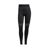 adidas 長褲 TF L 3 BAR T 黑 白 女款 緊身褲 跑步 健身 運動休閒【ACS】 GL0693