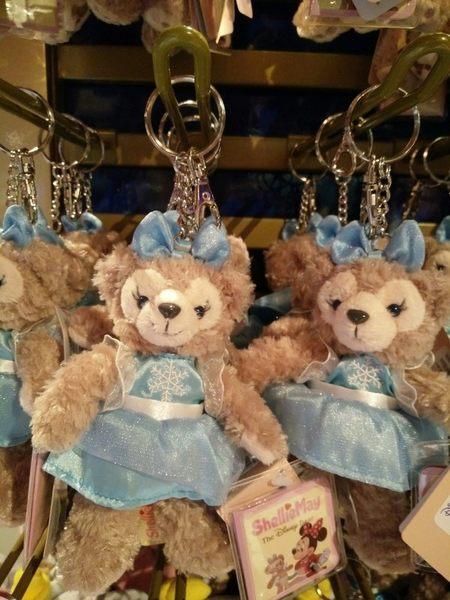 【香港迪士尼代購】達菲 雪莉玫【冰雪奇緣鑰匙圈 艾莎 Elsa】附樂園指南+袋子 Duffy Shelliemay
