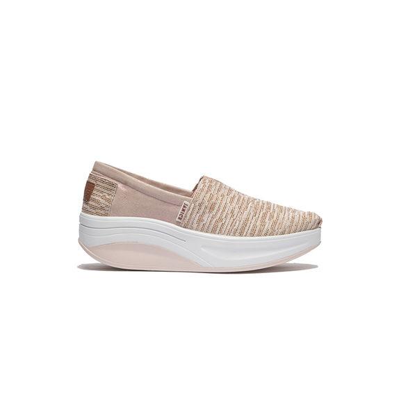 JANICE-璀璨銀線布休閒鞋352030-08粉