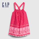 Gap女幼童 民族風格印花吊帶洋裝 576329-渦紋印花