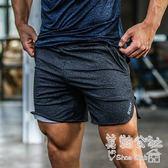 夏季寬鬆透氣運動五分男健身跑步訓練薄款深蹲短褲Sq3515 『美鞋公社』