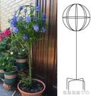 花園風車茉莉鐵線蓮爬藤架藍雪花棒棒糖花架子鐵藝球形造型支架桿 全館免運