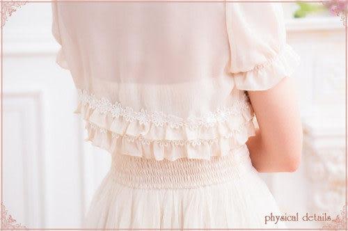 ✿ 3C膜露露 ✿秋雪紡長袖開衫小坎肩短款旗袍連衣裙外搭新娘伴娘禮服披肩小外套短袖