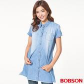 BOBSON  女款牛仔長版襯衫   (26133-53)