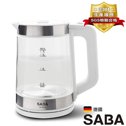 SABA 1.7L玻璃快煮壺SA-HK24【愛買】