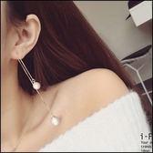 5天出貨★珍珠流囌長款氣質耳環★ifairies【32890】