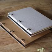 diy相冊 DIY皮質紙手工相冊 創意簡約畢業文藝麻布咖啡廳手繪菜單 紀念冊