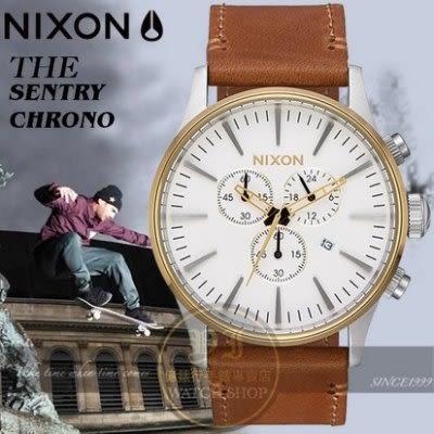 NIXON 實體店THE SENTRY CHRONO潮流時尚腕錶A405-2548公司貨