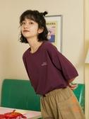 純棉短袖t恤女日系夏季寬松上衣女【橘社小鎮】