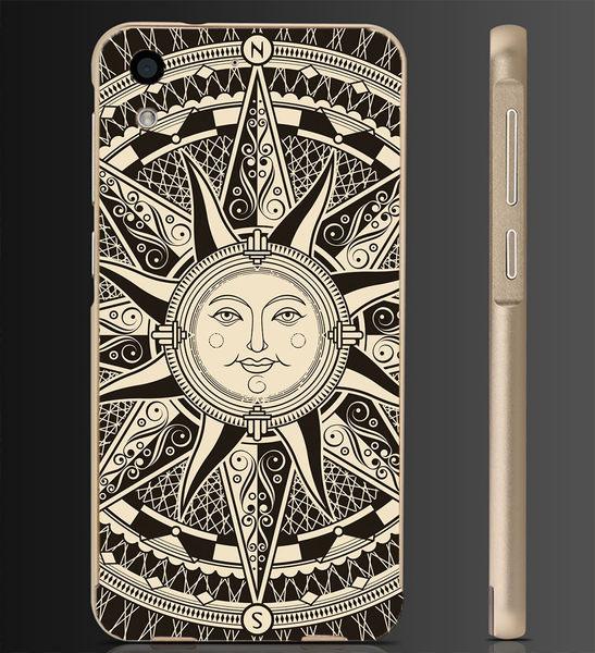 ✿ 俏魔女美人館✿ 【復古太陽*金屬邊框】htc 728手機殼 手機套 保護套 保護殼