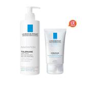 LA ROCHE-POSAY理膚寶水多容安舒敏溫和潔膚乳(大包裝) (效期2021.01) 送水感超保濕晚安凝膜(效期2021.01)