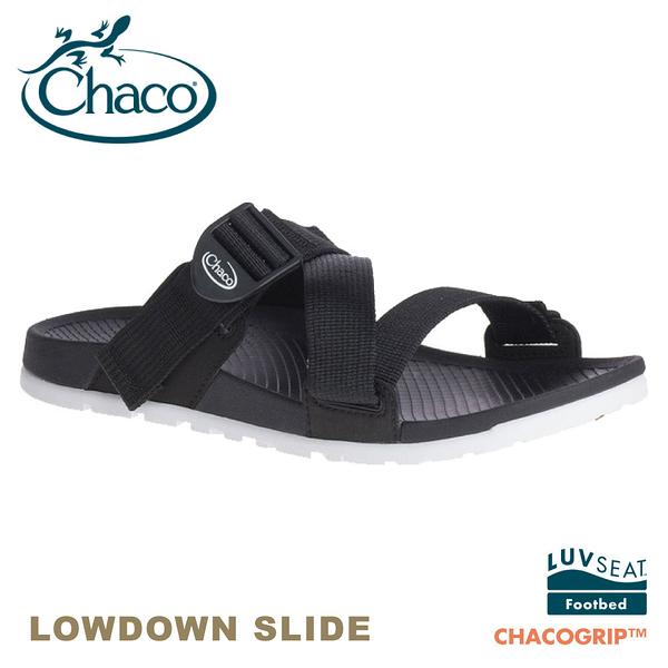 【CHACO 美國 女 LOWDOWN SLIDE休閒拖鞋《黑》】CH-LSW01H405/休閒涼鞋