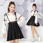 動漫二次元漢服改良中國風彼岸花唐裝 學生服套裝 萌妹班服洋裝
