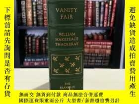 二手書博民逛書店Vanity罕見Fair 《名利場》thackeray 薩克雷 經典 franklin library 1977年
