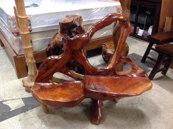 8號店鋪 休閒椅組  原木休閒情人椅組~~全實木~~實體店面~~~