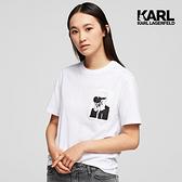 KARL LAGERFELD 傳奇KARL 口袋T 恤白