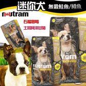 【培菓平價寵物網】(送購物金400元)紐頓nutram《無穀全能-迷你犬 鮭魚配方T28》6.8kg