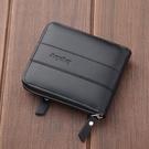 拉鏈皮夾男士短款折疊多功能卡位款個性皮夾...