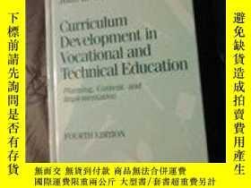 二手書博民逛書店Curriculum罕見Development In Vocational And Technical Educa