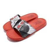 Nike 拖鞋 Benassi JDI Print 橘 黑 HBL 特殊紀念款 涼拖鞋 男鞋 女鞋【PUMP306】 CI1954-016