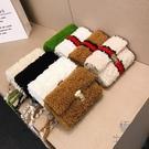 手工編織包包毛線針織成品毛絨女包【極簡生活】