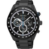 SEIKO精工 Criteria 太陽能限定計時手錶-鍍黑/43mm V175-0EE0SD(SSC591P1)