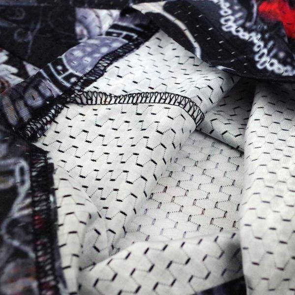 男士短袖t恤圓領修身上衣夏季日系滌綸內搭網眼男裝半袖為了部落