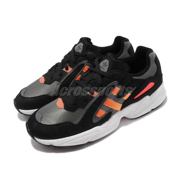 【五折特賣】adidas 休閒鞋 Yung-96 Chasm 黑 灰 橘紅 漸層 厚底 男鞋 【PUMP306】 EE7227
