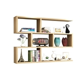 置物架 牆上置物架壁掛牆面儲物櫃子吊櫃牆壁櫃現代簡約實木書架創意格子 宜品居家