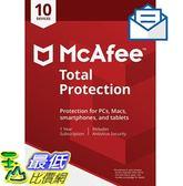 [8美國直購] 暢銷軟體 McAfee Total Protection|Antivirus| Internet Security| 10 Device| 1 Year Subscriptio