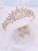 女童皇冠頭飾水晶兒童王冠公主生日韓式走秀演出小女孩發飾品發箍聖誕交換禮物