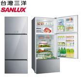 原廠送好禮【SANLUX三洋】528L變頻玻璃三門冰箱SR-C528CVG
