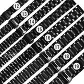 Watchband / 12.13.14.15.16.17.18.19 mm / 各品牌通用 蝴蝶雙壓扣 不鏽鋼錶帶 鍍黑 #809-41-BK