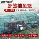 蝦籠漁網魚網專用龍蝦網籠加厚折疊捕魚抓魚籠黃鱔籠捕蝦網河蝦網 快速出貨
