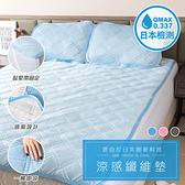 樂嫚妮 接觸涼感纖維墊床墊枕墊-單人-藍-200X120cm