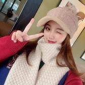 針織帽毛線帽女ins秋冬鴨舌日系可愛冬天保暖帽加絨加厚韓版針織帽子潮 春季上新