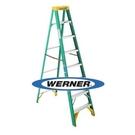 美國Werner穩耐 絕緣梯 5908AS 玻璃鋼單側 人字梯(梯長2.4m) FRP梯 梯子 進口梯 /台 (出貨後無法退換貨)