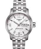 TISSOT 天梭 PRC200 Powermatic 80 時尚機械手錶-銀/39mm T0554301101700