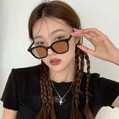 韓版潮黑框茶色墨鏡女夏季防曬2021新款圓臉大臉顯瘦網紅太陽眼鏡 「ATF艾瑞斯」