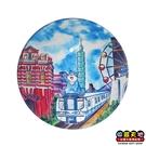 【收藏天地】台灣紀念品*水晶玻璃球冰箱貼-台北天空 ∕ 小物 磁鐵 送禮 文創