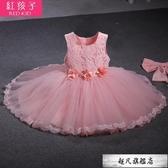 女童連身裙白公主蓬蓬紗裙童裝1周歲2生日3禮服夏裝4短裙-10週年慶